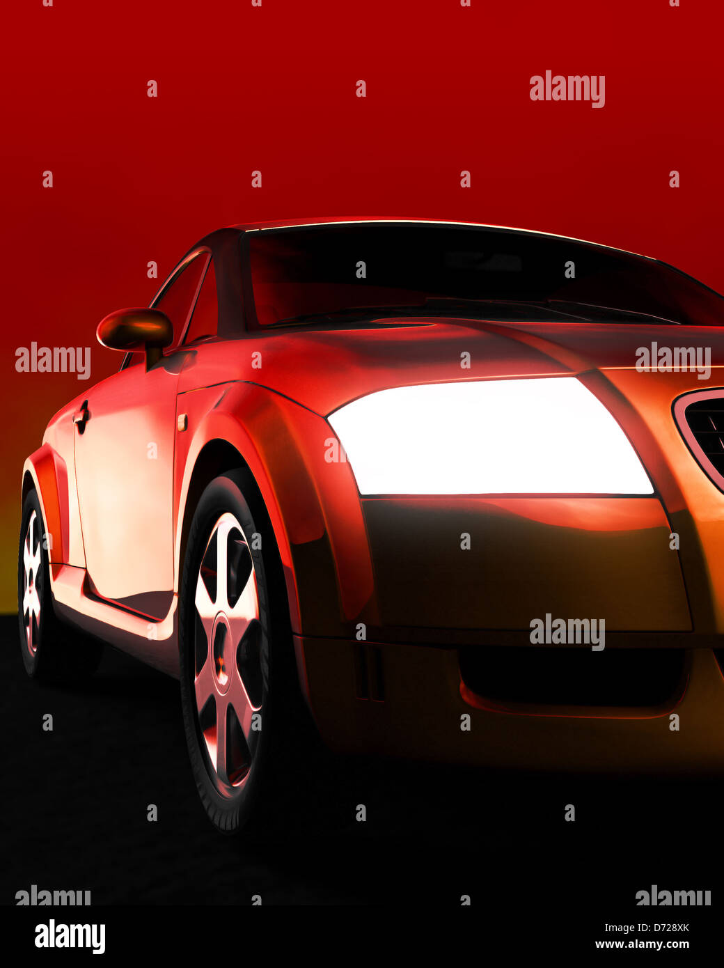 Car illustration - Stock Image