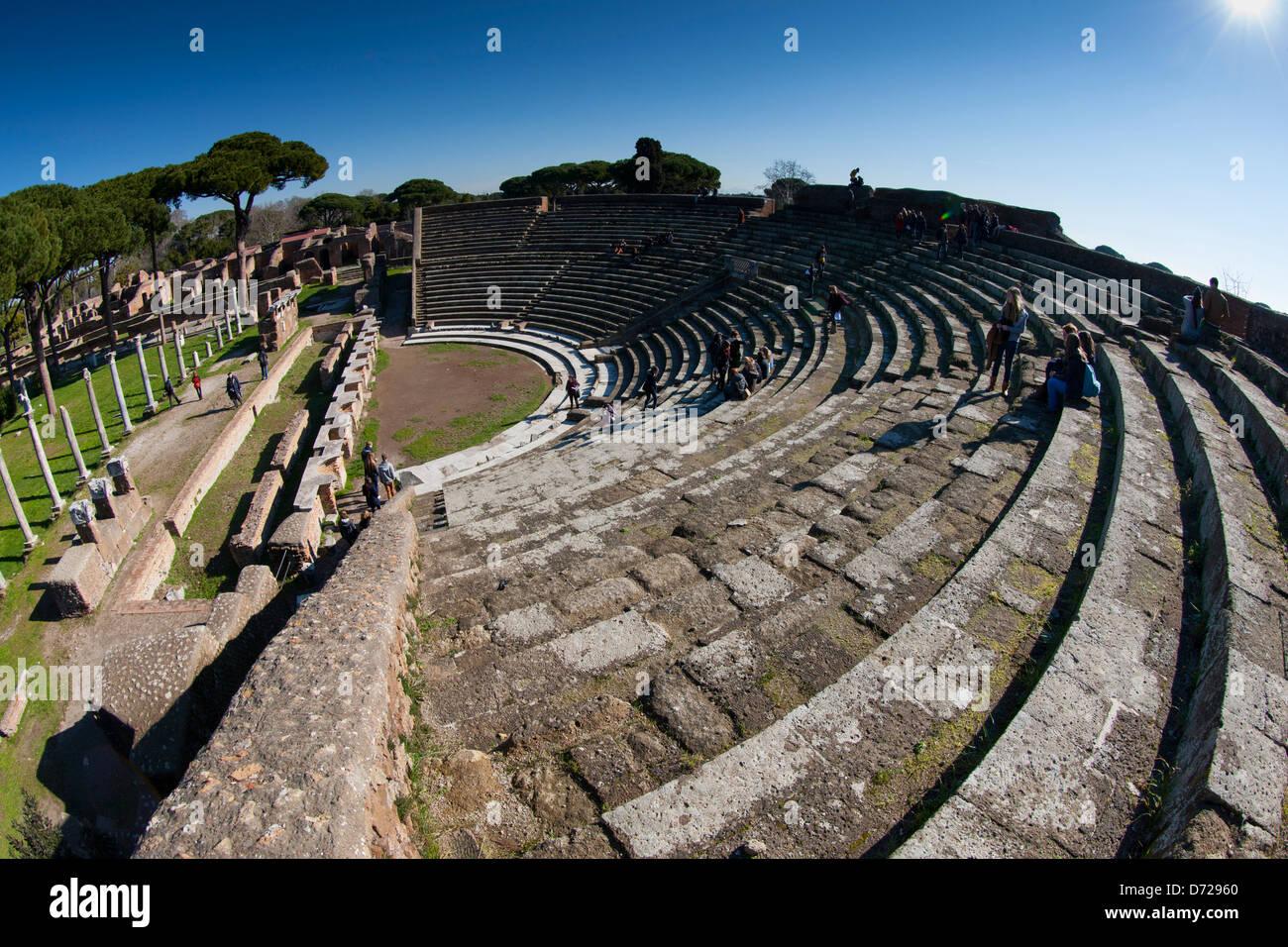 The amphitheatre in Ostia Antica - Stock Image