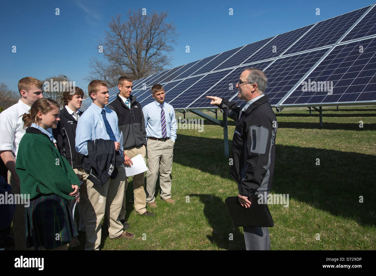 Catholic High School Students Learn About A Solar Energy Project