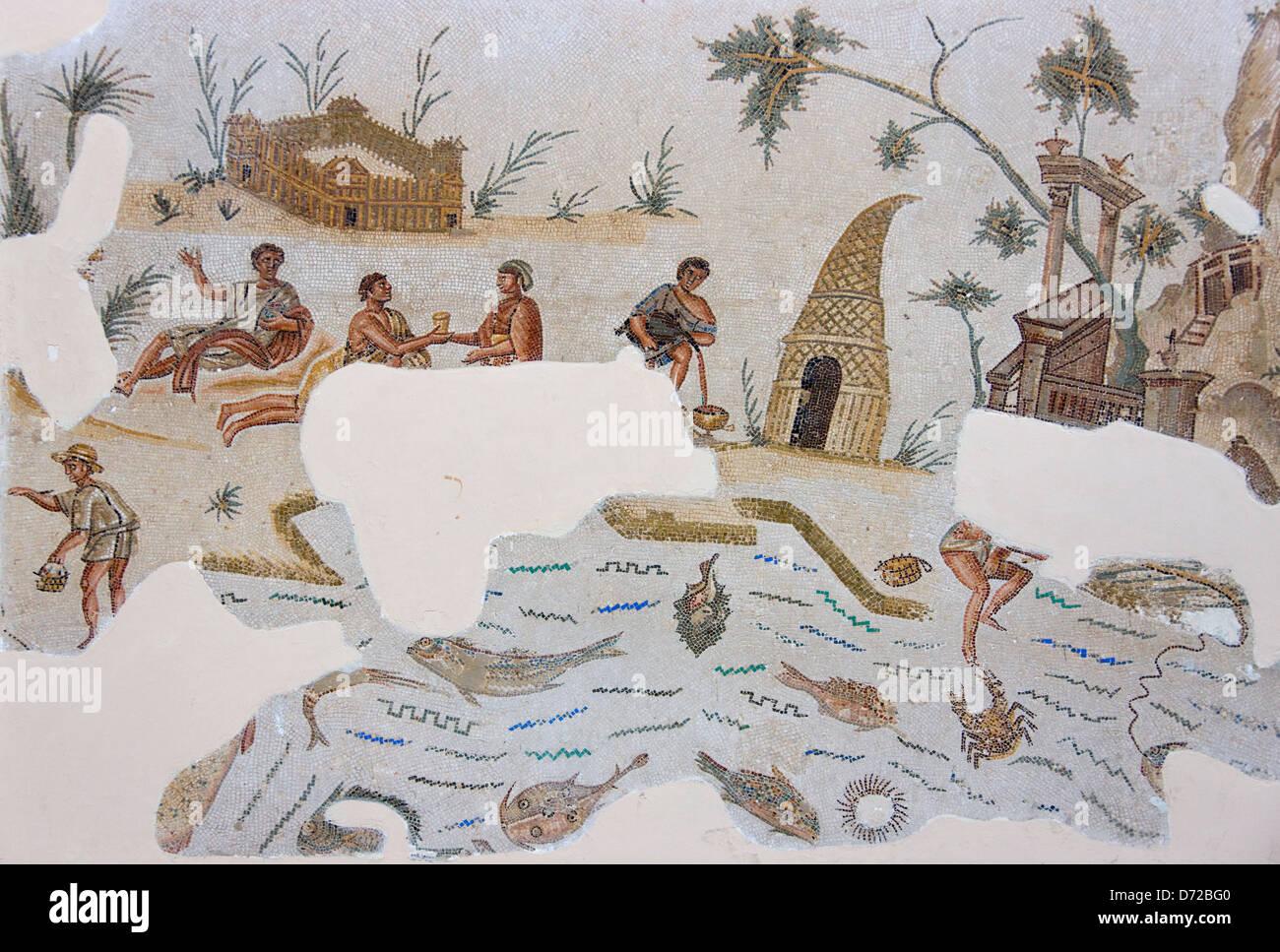 Mosaic in Bardo National Museum, Tunis, Tunisia Stock Photo