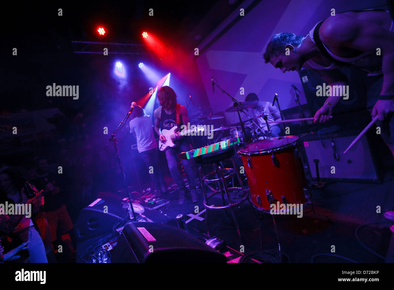 Scottish band Tango in the Attic from Glenrothes play the Scottish Showcase at South by South West Music Festival, - Stock Image