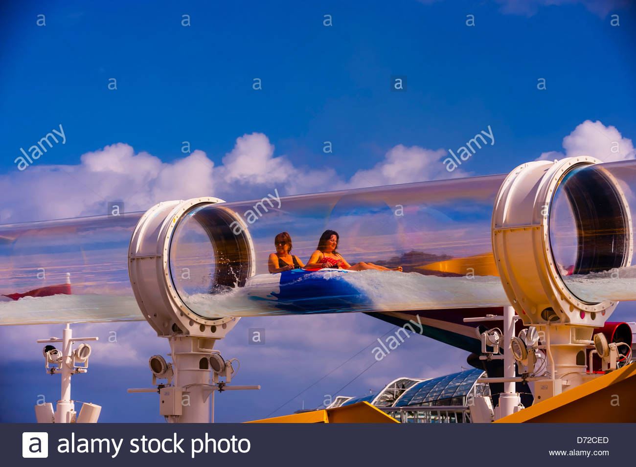 Aquaduck Water Slide Aboard The Cruise Ship Disney Dream Disney Stock Photo Alamy
