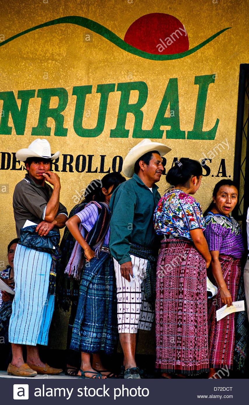 Local people, Santiago Atitlan, Lake Atitlan (Lago de Atitlan), Western Highlands, Guatemala - Stock Image