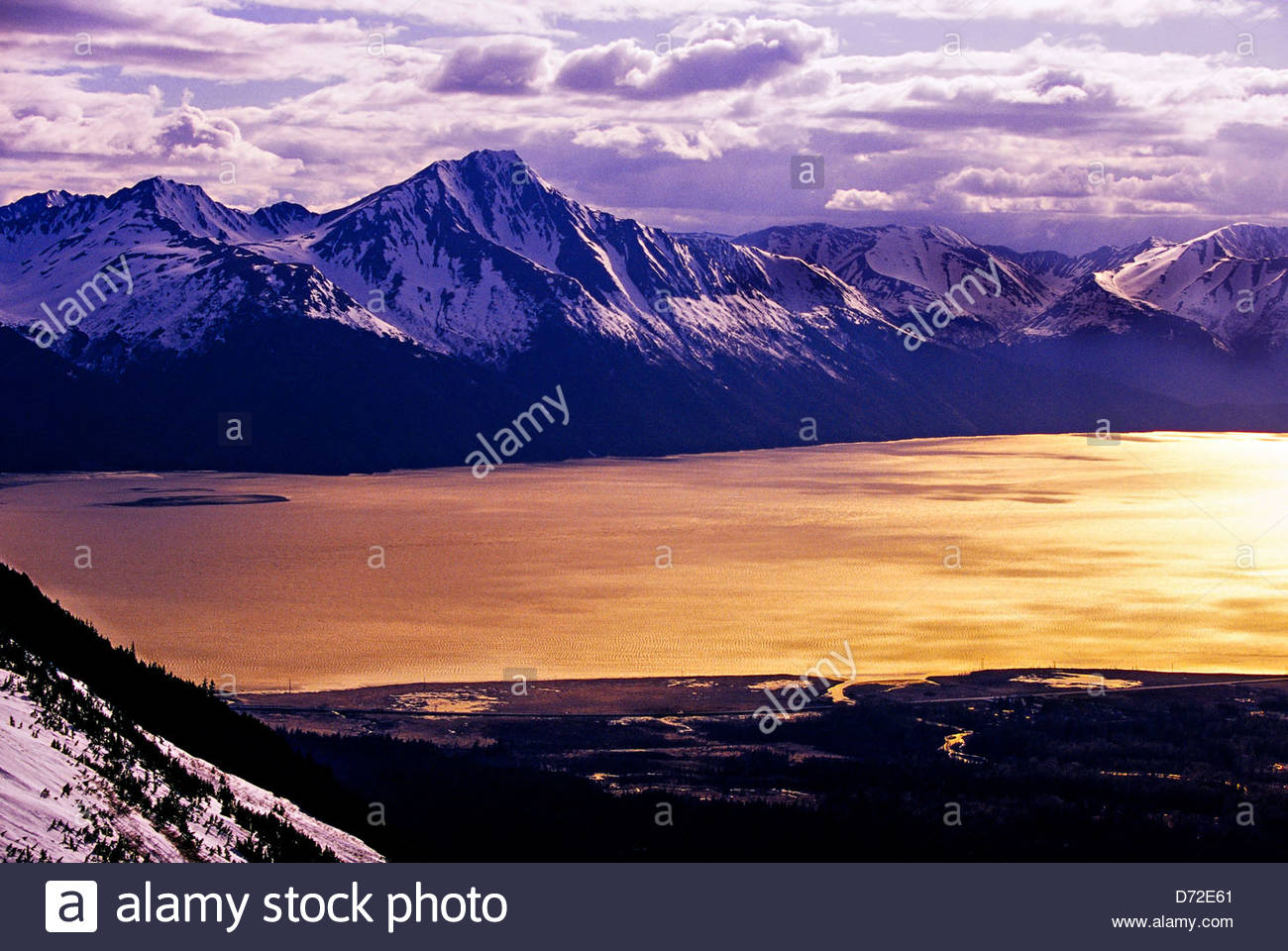 turnagain arm (seen from the top of alyeska ski resort, girdwood