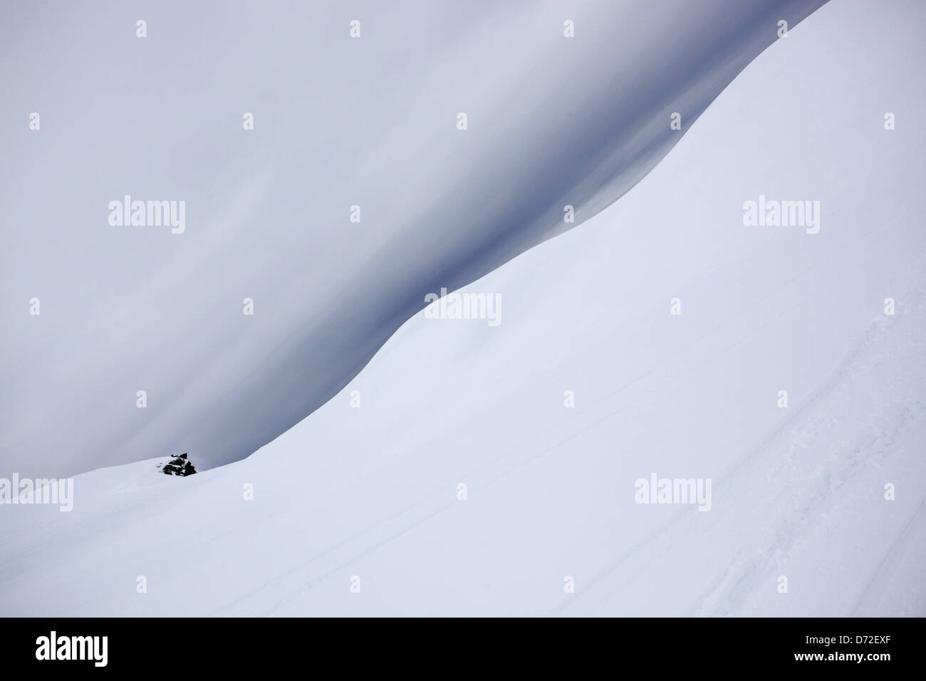 Abstract photo from a skiing holiday in the French Alps - Stock Image