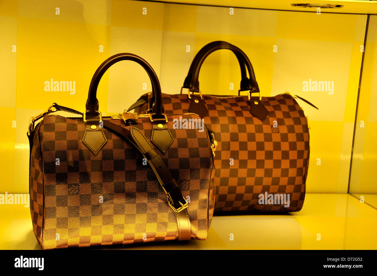 Louis Vuitton Woman Hand Bag In The Window Of Lv Boutique In Dubai