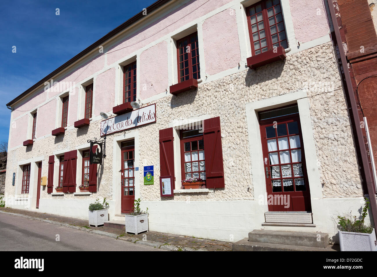 Architecture of Giverny, Haute Normandie, France - Stock Image