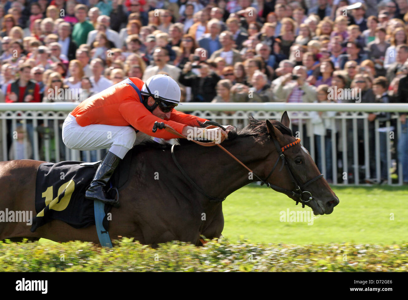 Hoppe Garden, Danedream with Andrasch Starke wins the Grand Prix of Berlin - Stock Image