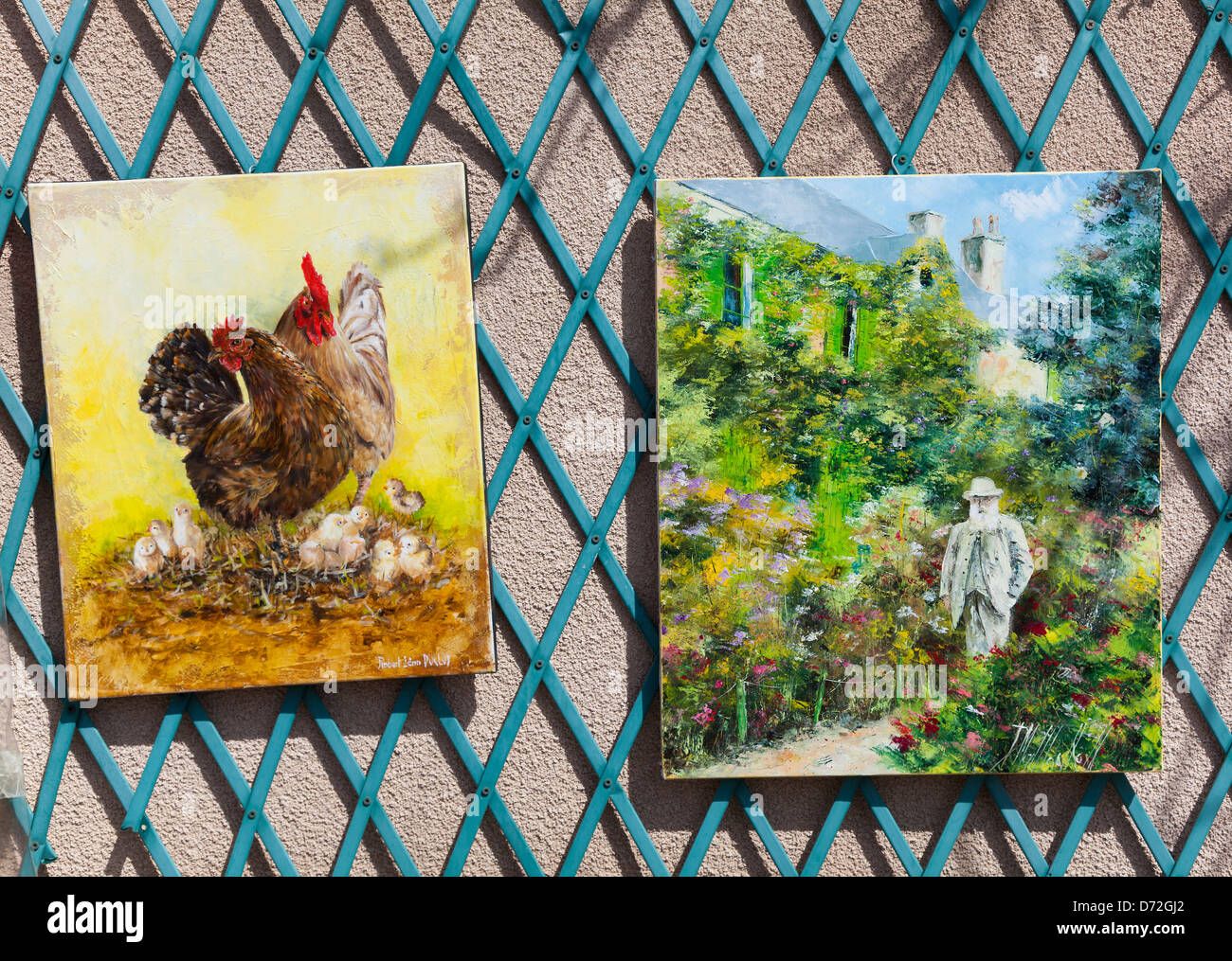 Painting in Giverny, Haute Normandie, France - Stock Image
