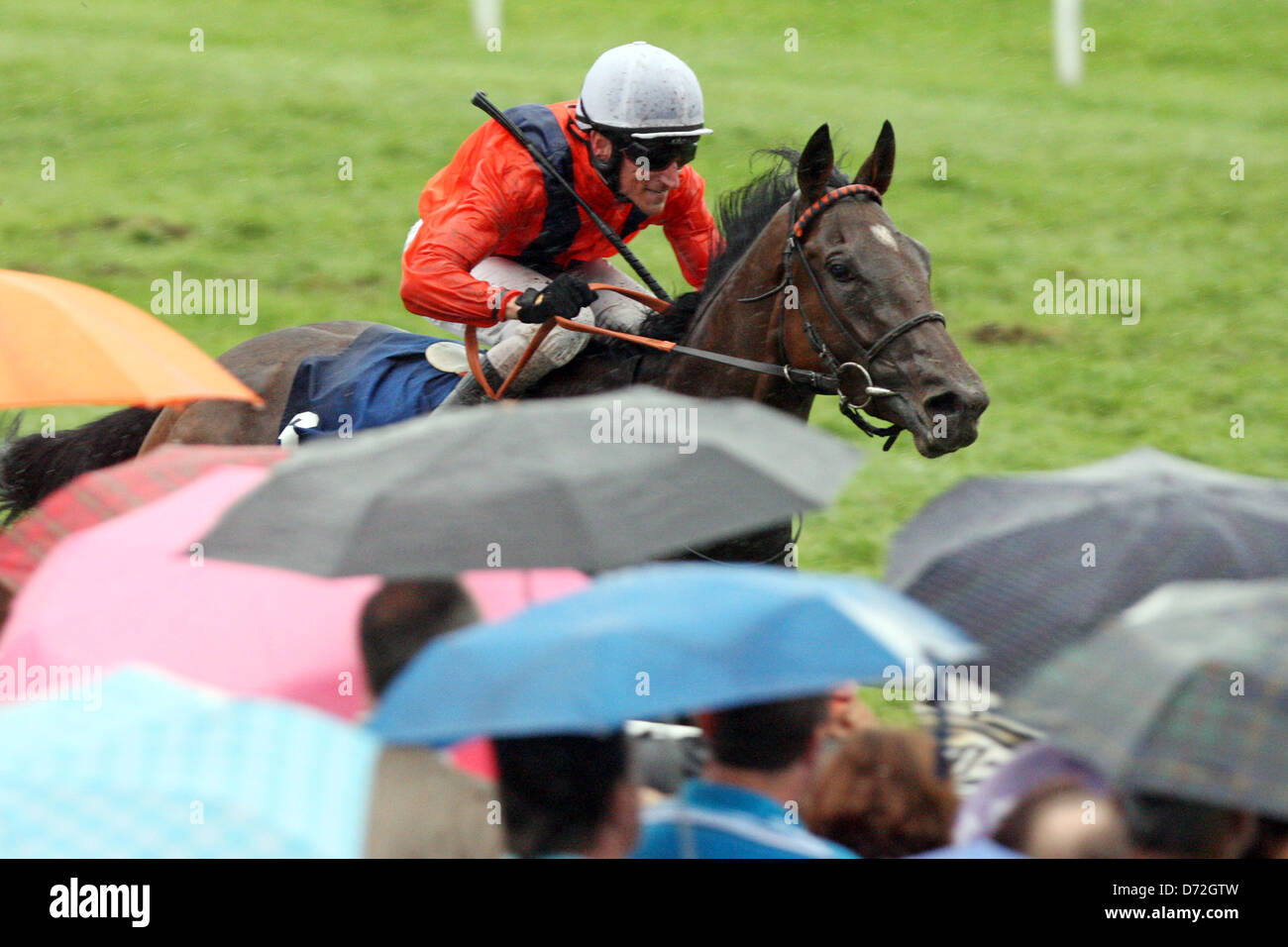 Iffezheim, Germany, Danedream with Andrasch Starke wins the Longines Grand Prix of Baden Stock Photo