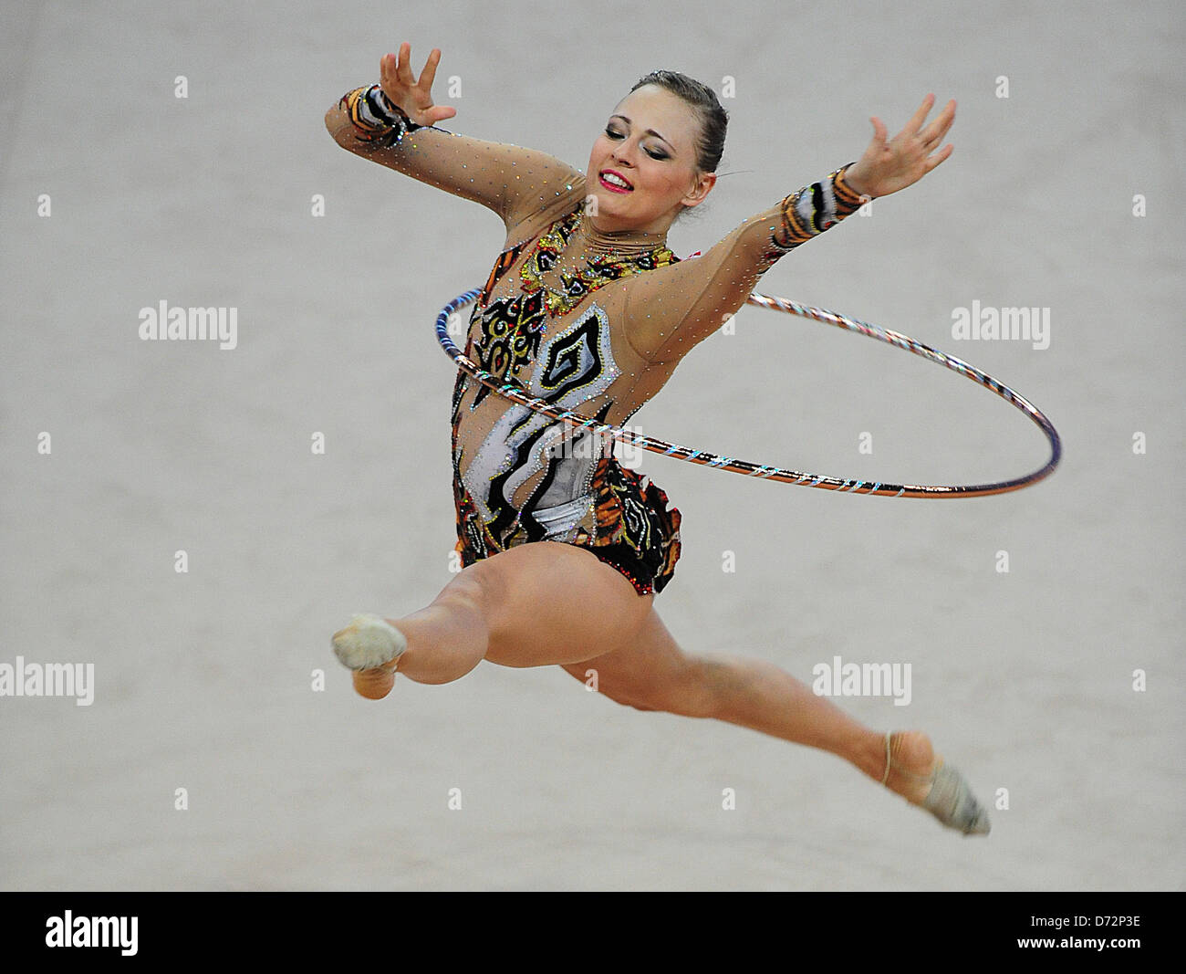26.04.2013 Pesaro, Italy.  Nicol Ruprecht of Austria during day one of the Rhythmic Gymnastic World Cup Series from - Stock Image