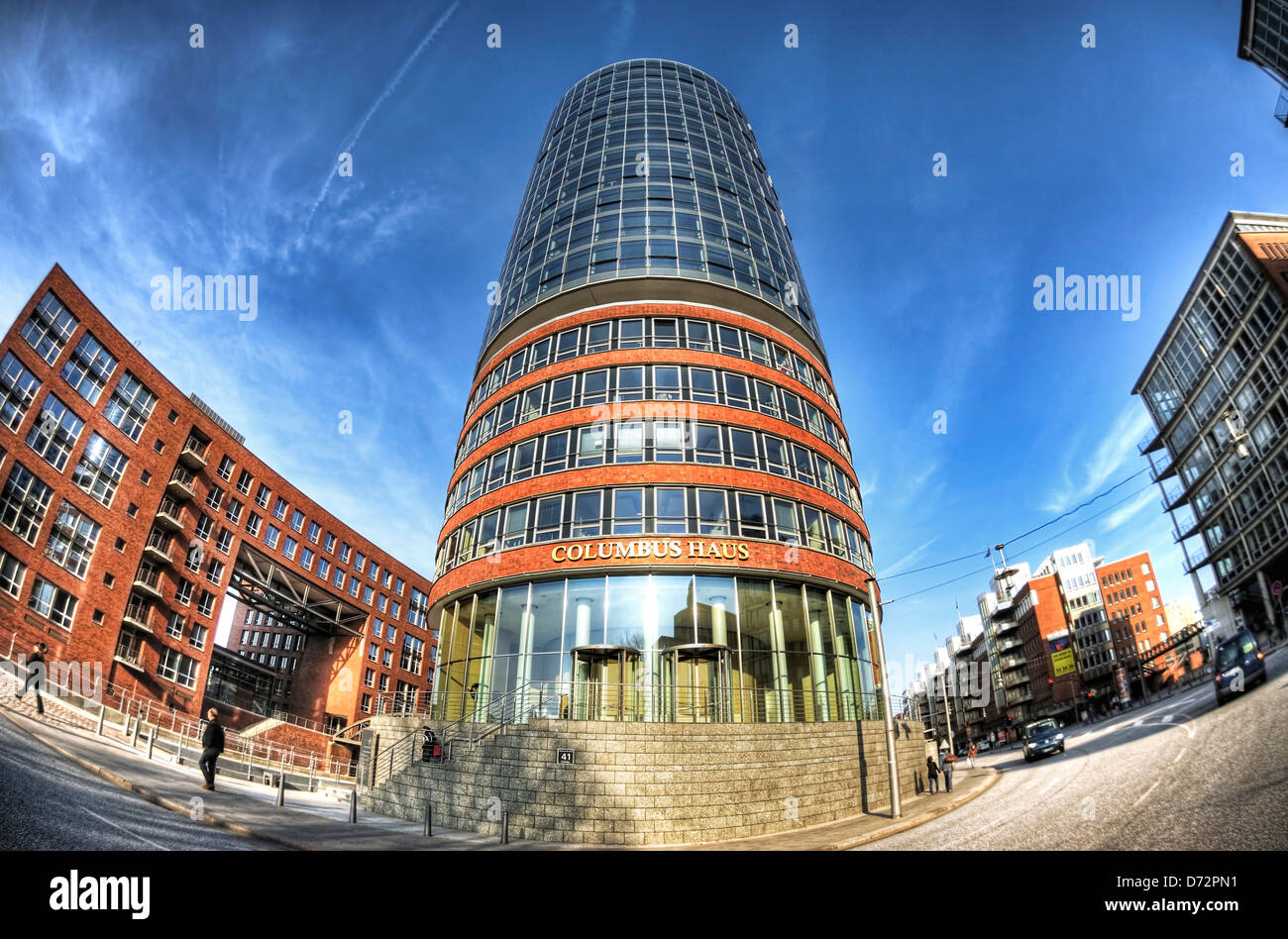Columbus house on the edge of the memory town in Hamburg, Germany, Europe - Stock Image