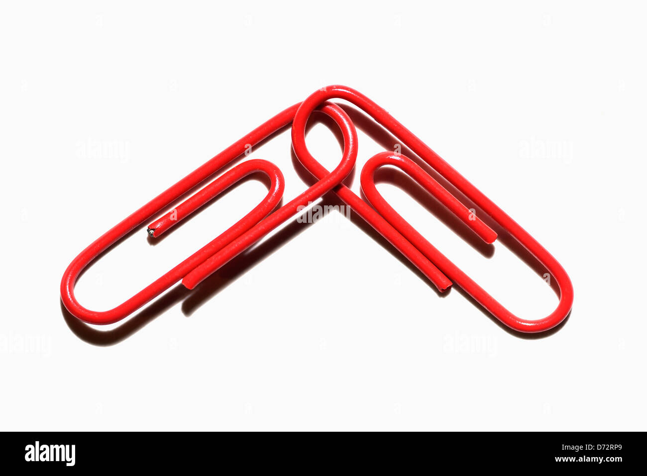 Two red staples, symbolic photo red-red coalition - Stock Image