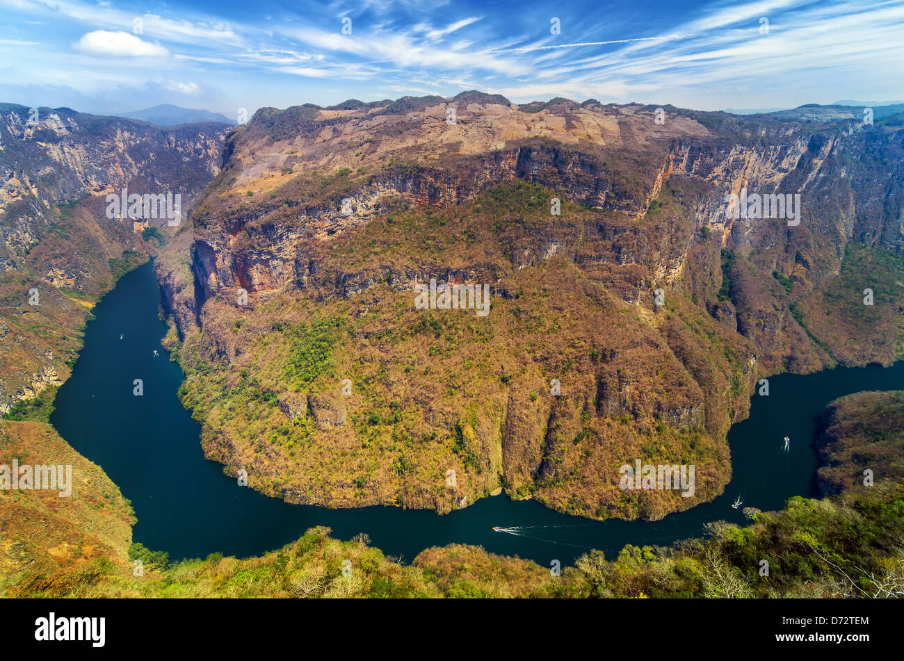 View from above the Sumidero Canyon in Chiapas, Mexico - Stock Image