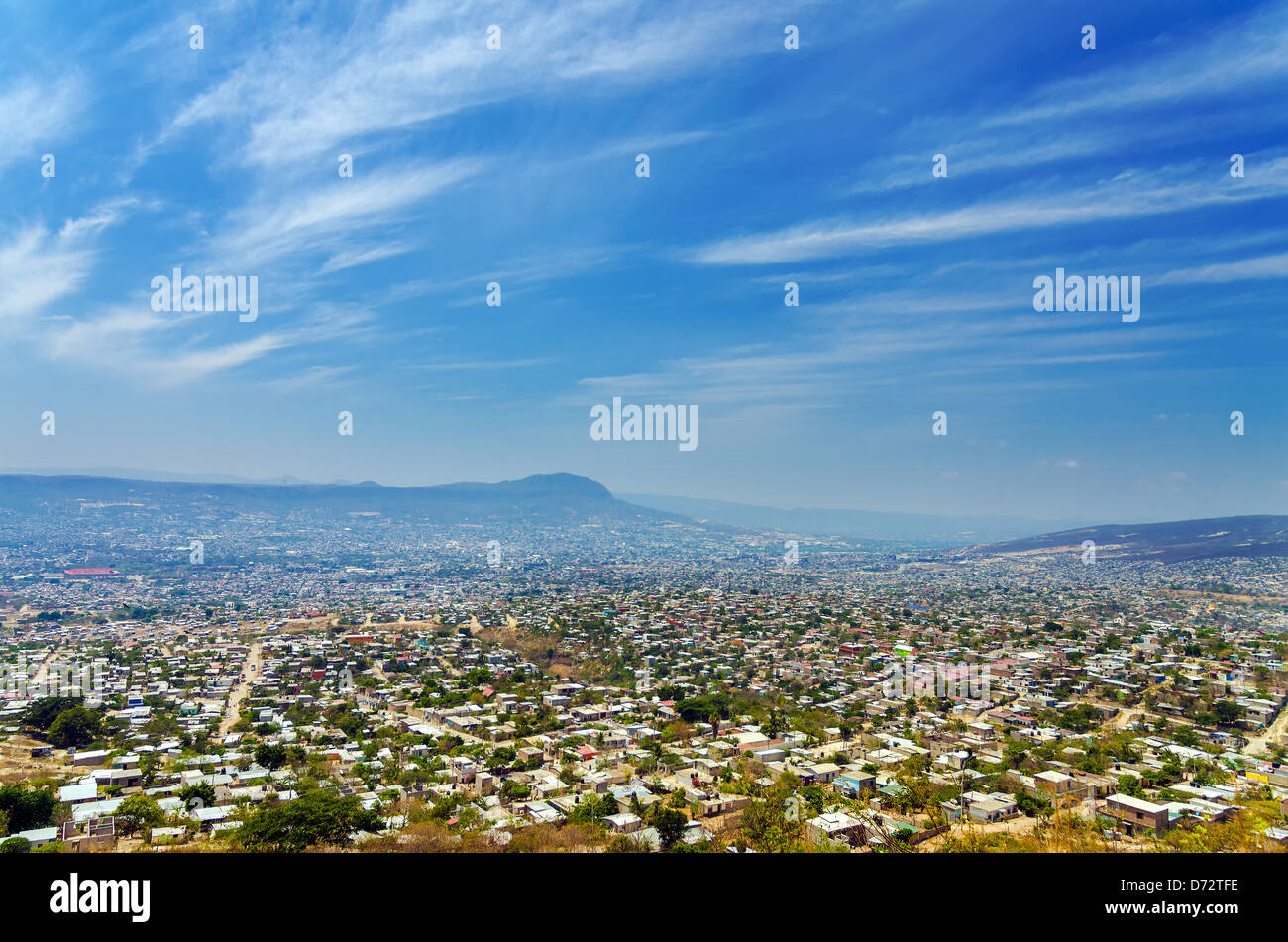 A view of Tuxtla Gutierrez, the capital of Chiapas, Mexico - Stock Image