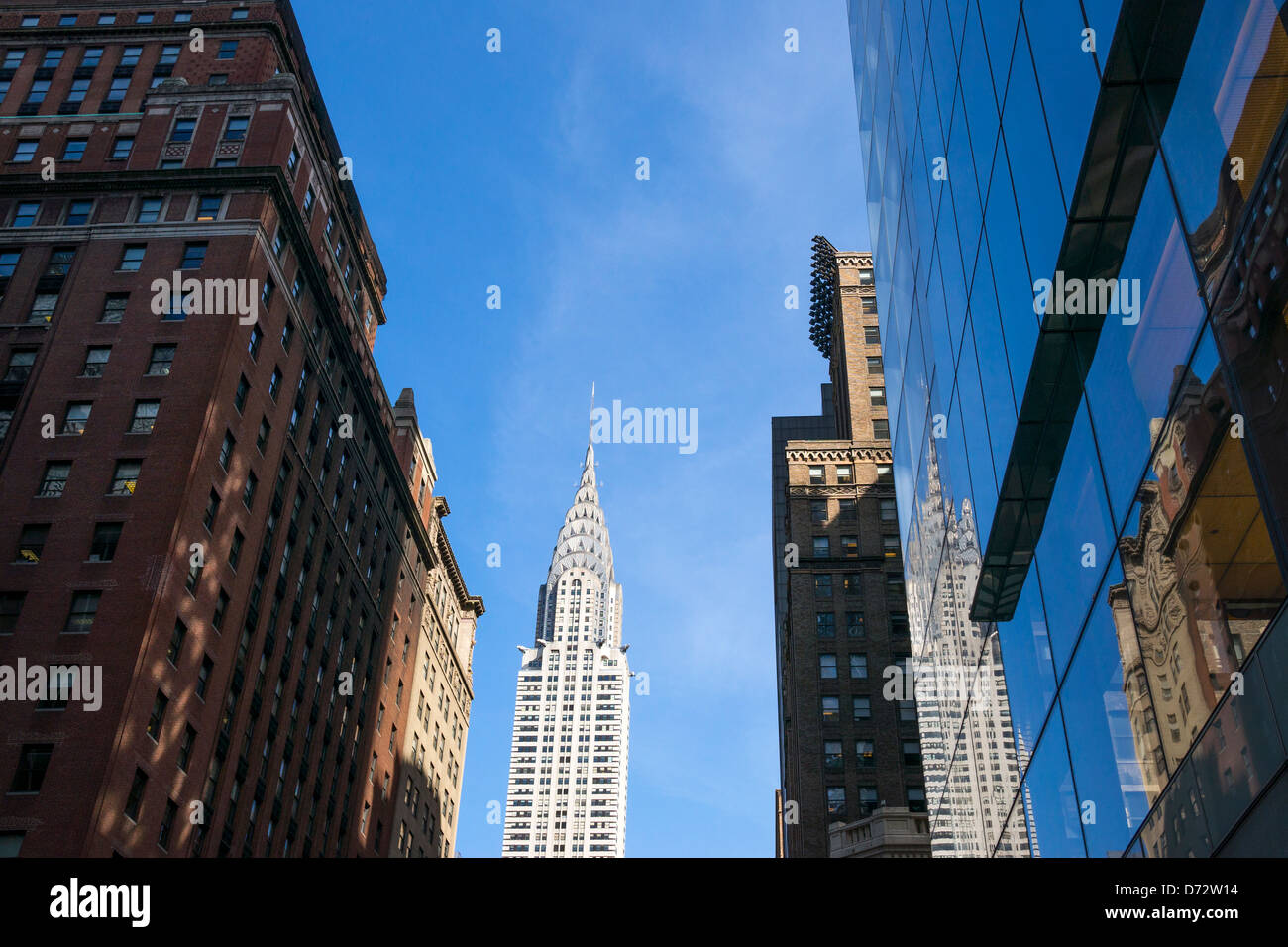 The Chrysler Building, an Art Deco building in New York City - Stock Image