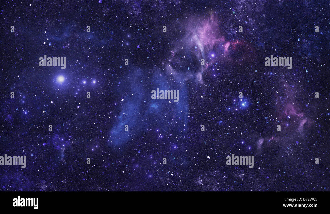 Blue Space Starfield Nebula Background Stock Photo Alamy