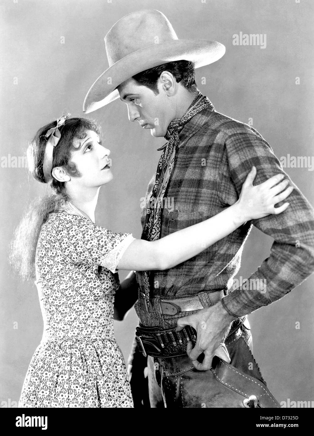 ARIZONA BOUND 1927 Famous Players film with Gary Cooper and Betty Jewel - Stock Image