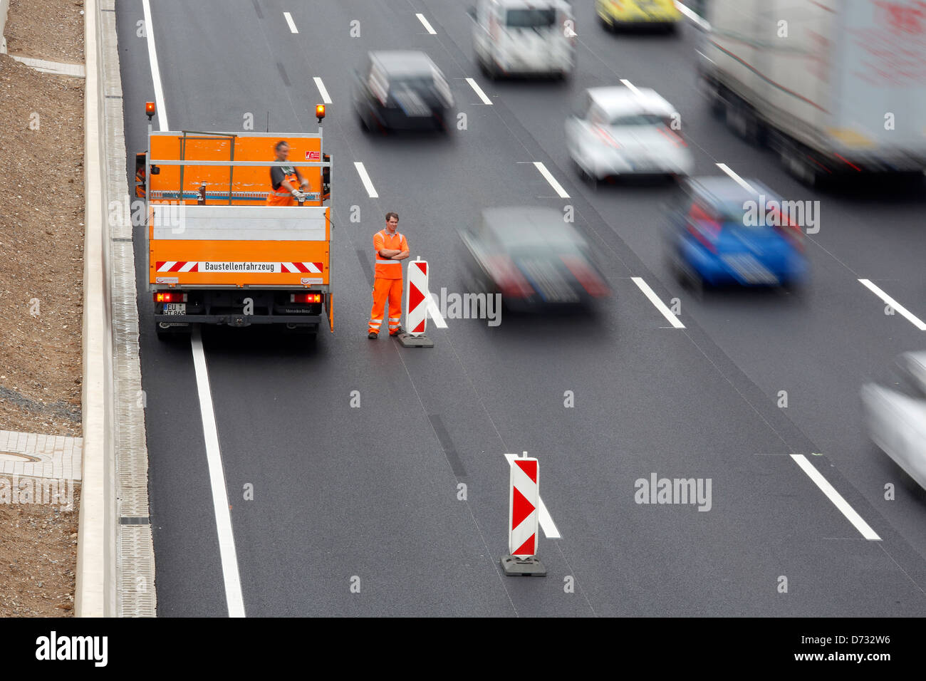 Koeln, Germany, Cologne 'ring road, lifting a highway construction site Stock Photo