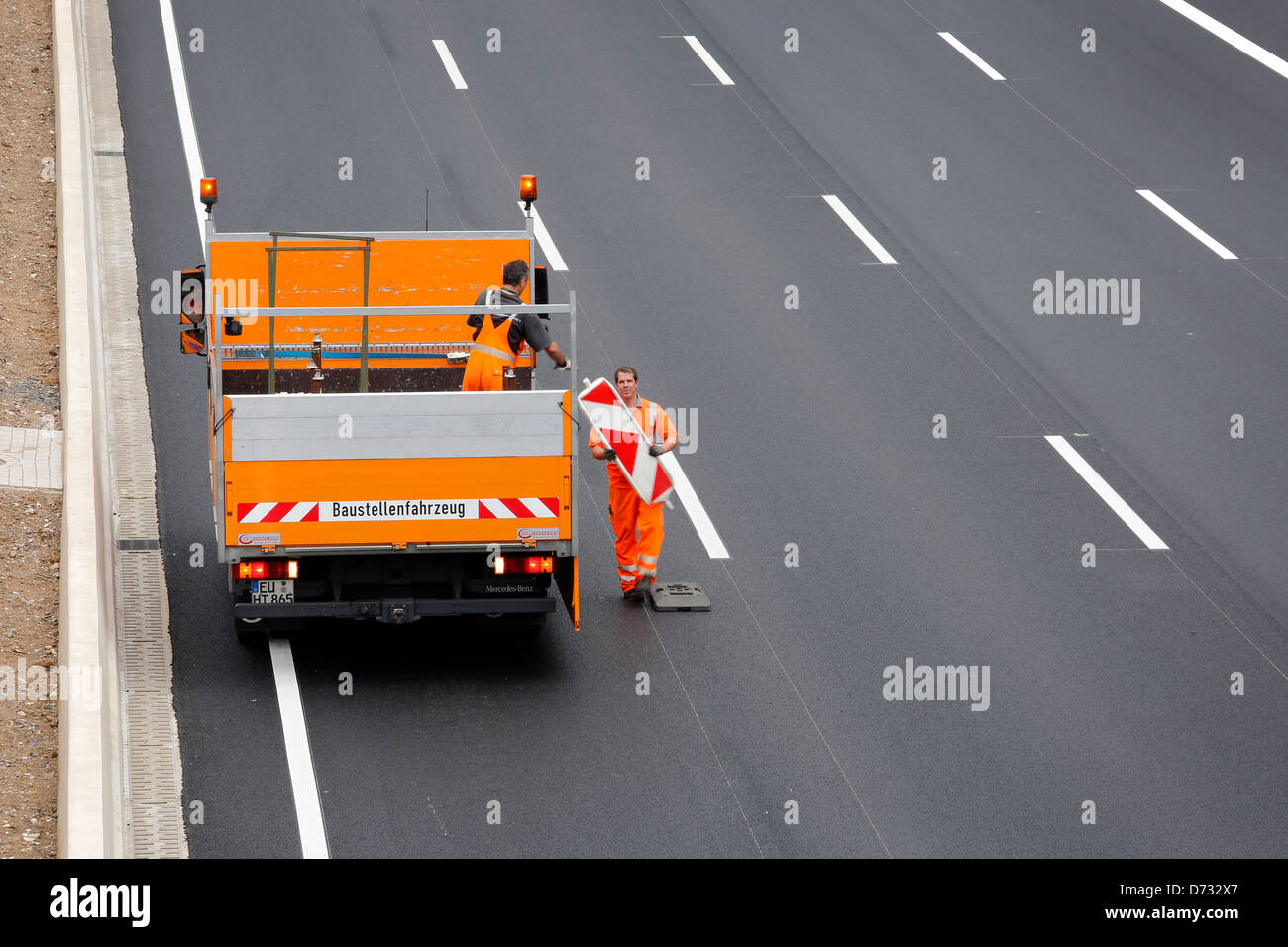 Koeln, Germany, Cologne 'ring road, a highway construction site is broken Stock Photo