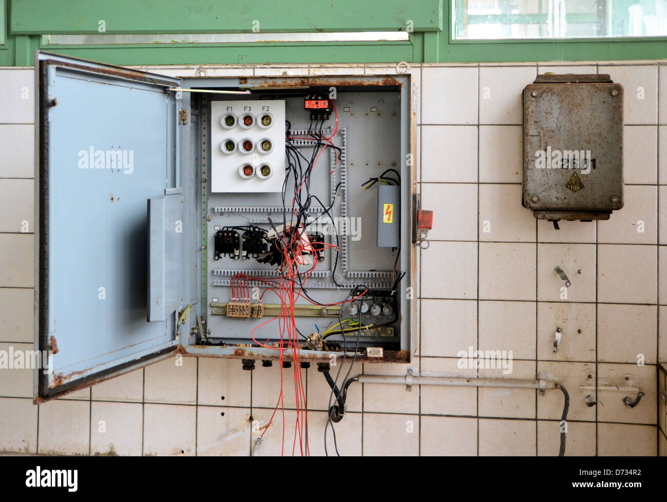 Fuse Box Stock Photos Images Alamy Nice Doors An Old In A Disused Factory Image
