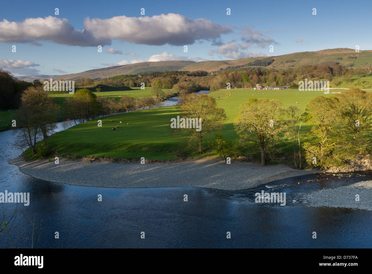 Ruskin's View, St Mary's Church in Kirby Lonsdale - Stock Image
