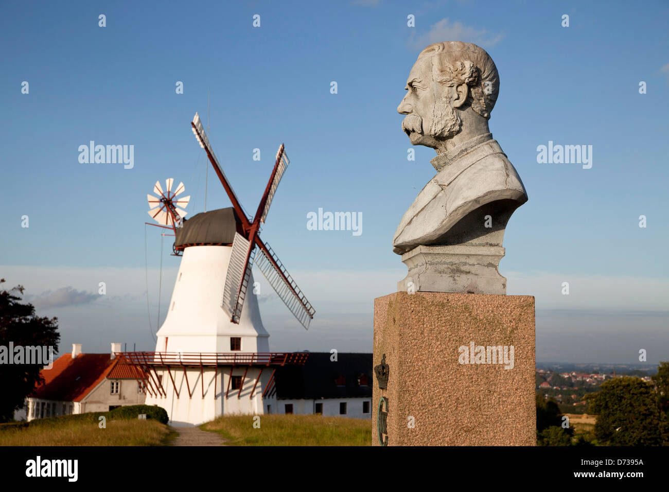 Dybbøl Mølle Windmill, museum and significant Danish memorial on the cultural heritage managed - Stock Image