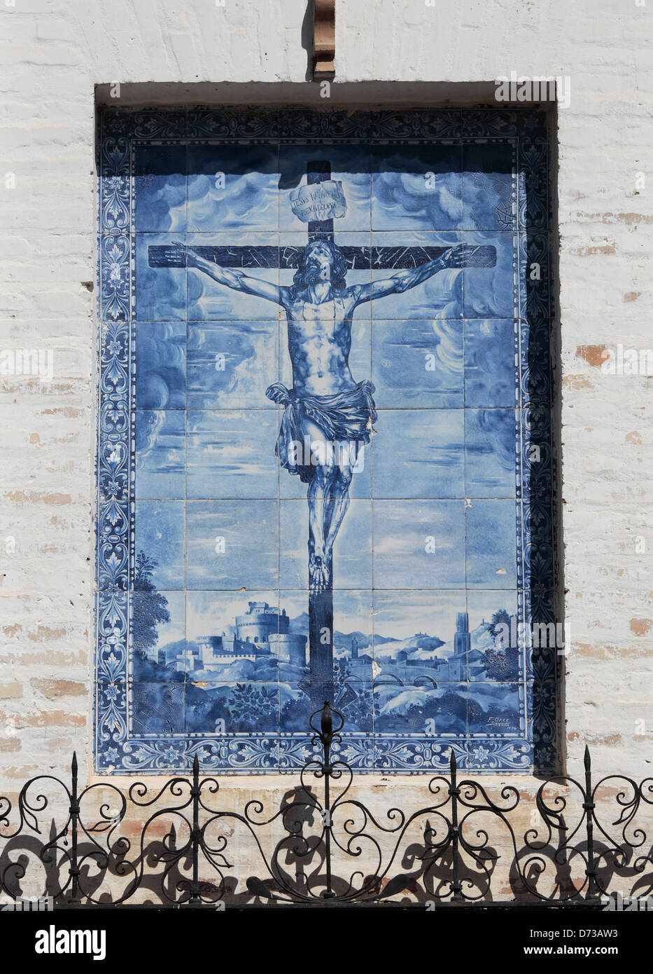 Religious imagery in Seville, Spain. - Stock Image