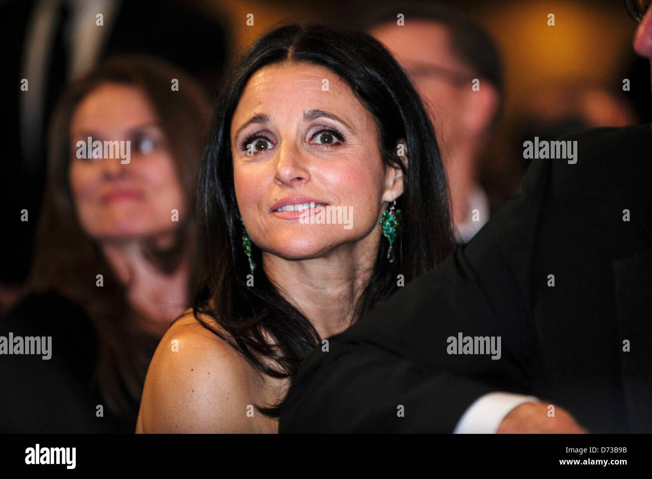 Actress Julia Louis Dreyfus Looks On At The White House