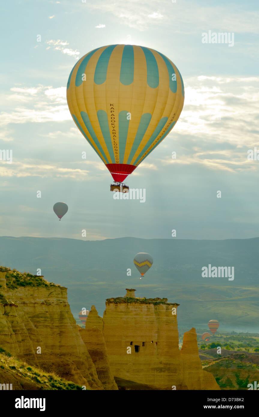 Hot Air Ballooning, Cappodocia, Nevsehir, Turkey Stock Photo