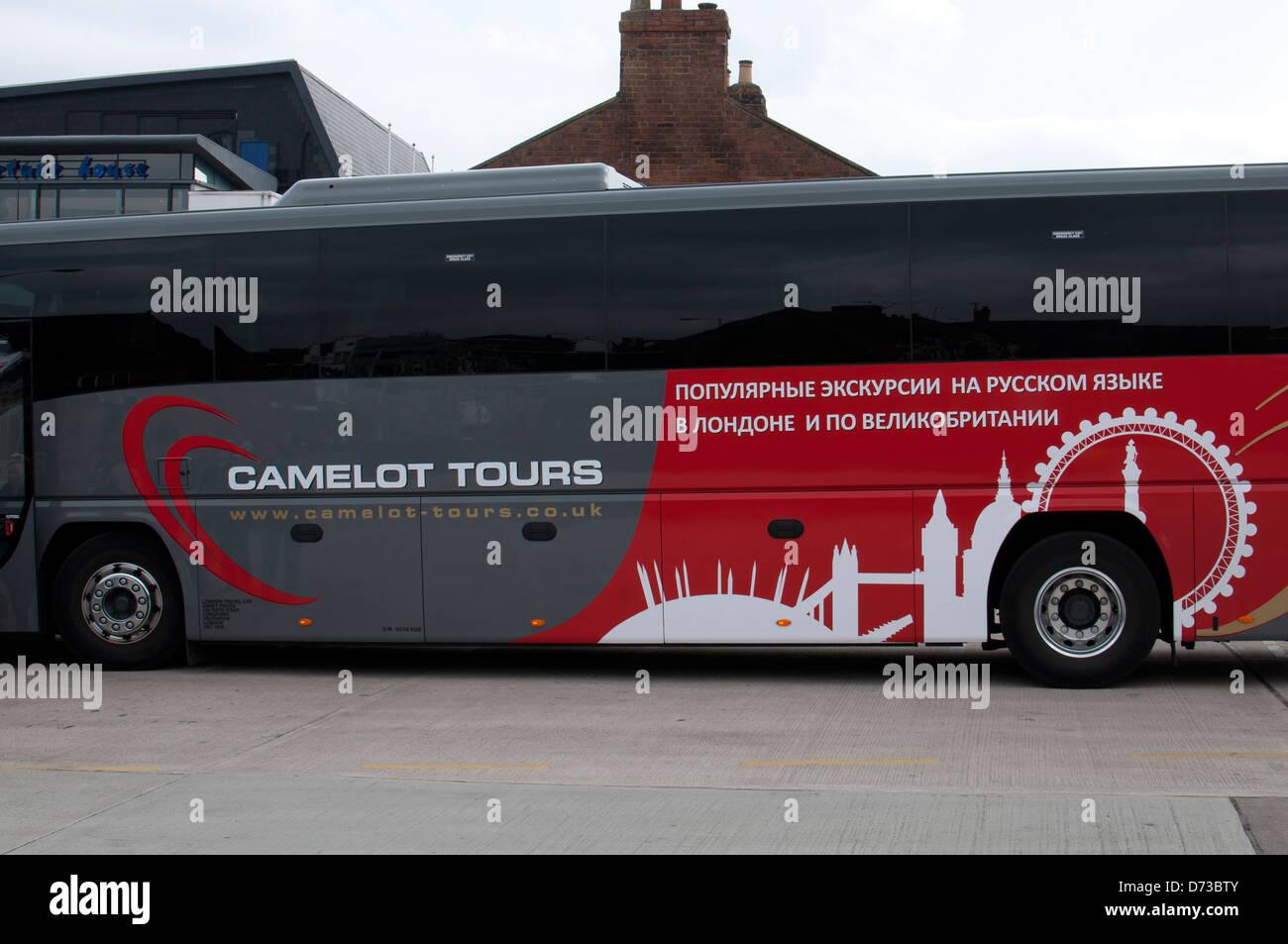Camelot Tours coach - Stock Image