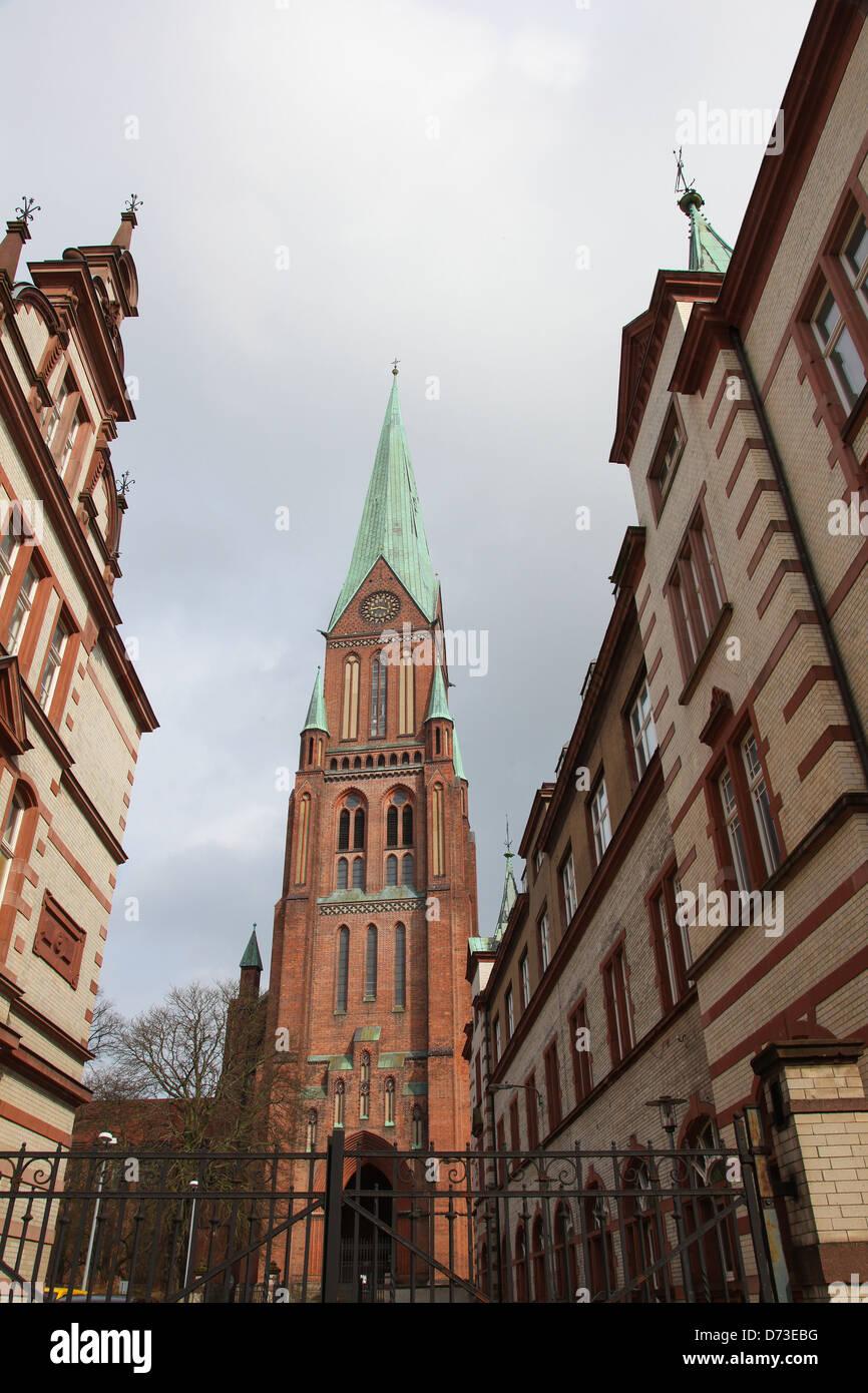 Schwerin cathedral in Schwerin, Mecklenburg-Vorpommern, Germany. - Stock Image
