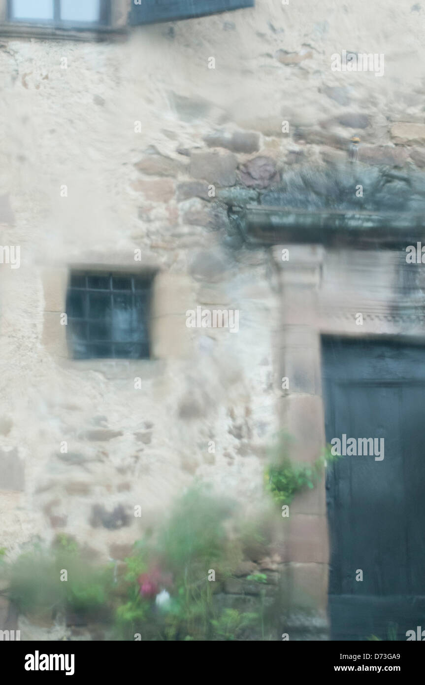 A  building  once  used  as  a  jail  in  a  village  in  France - Stock Image