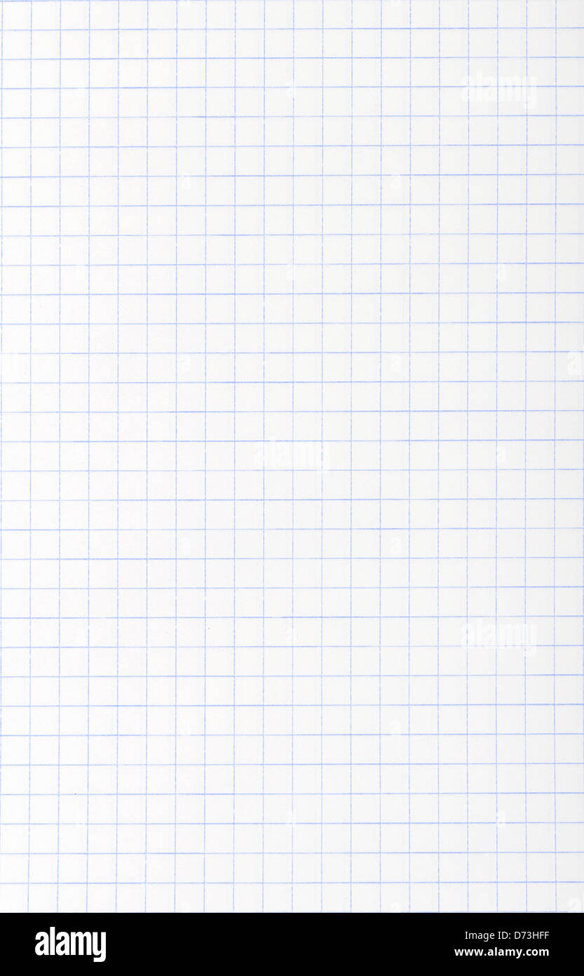 White squared paper sheet texture or background - Stock Image