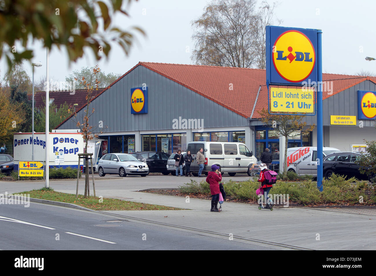 Flensburg, Germany, Lidl Market In The Frisian Stra  E-4716