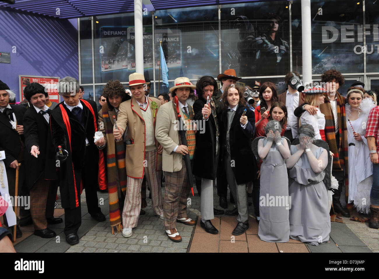 Stratford, London, UK. 28th April 2013. Characters and a selection of Doctor Who, at the costume parade. The Sci - Stock Image