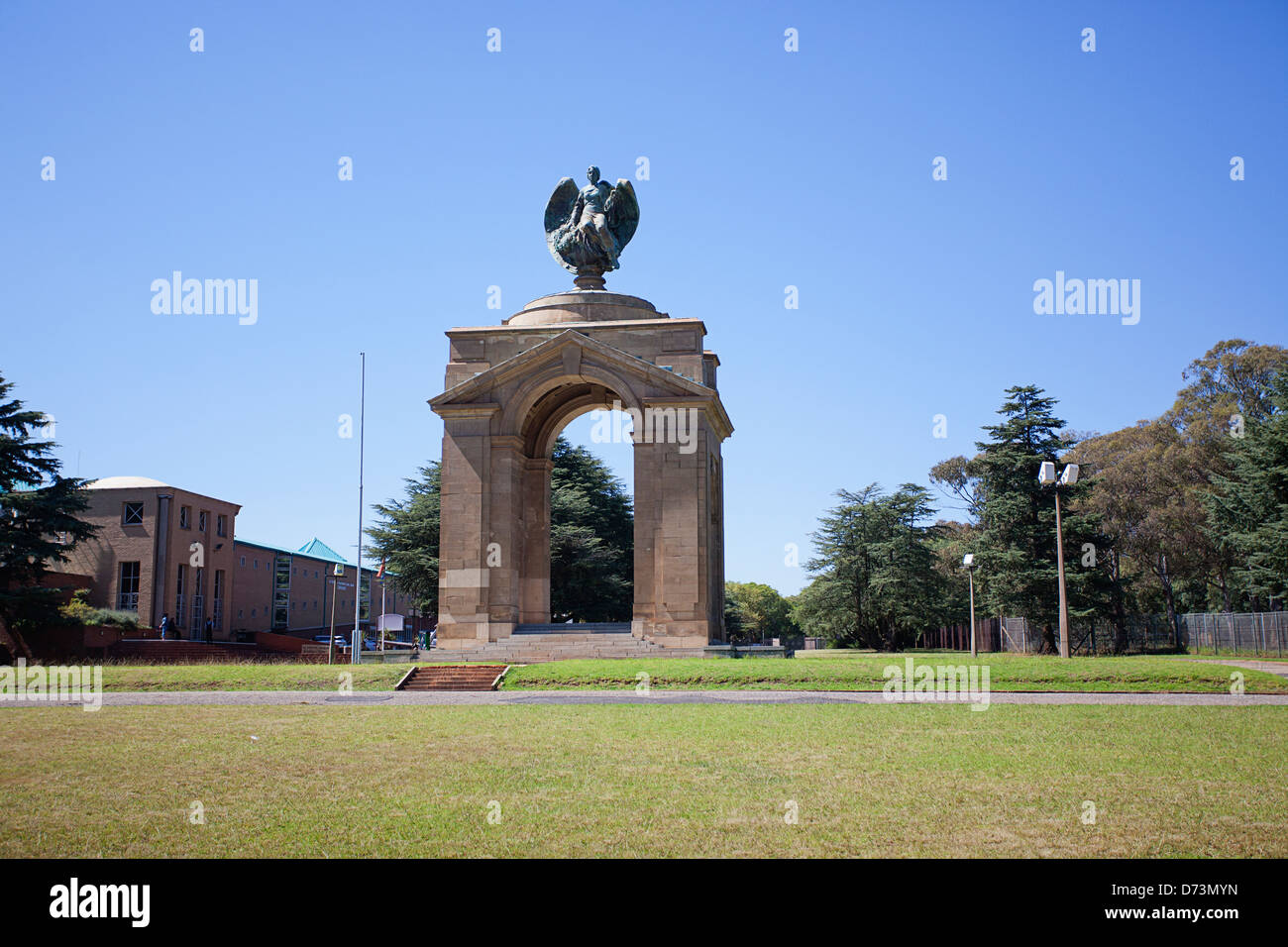 The Rand Regiments Memorial renamed the Boer War Memorial situated at the Ditsong National Museum of Military History - Stock Image
