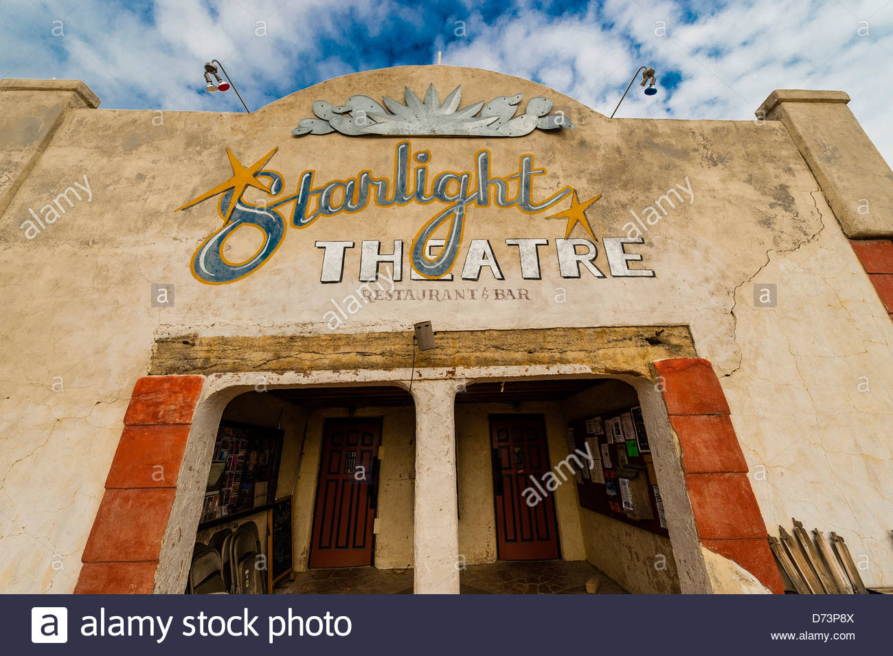 Starlight Theatre Restaurant and Bar, Terlingua Ghosttown, near Big Bend National Park, Texas USA. - Stock Image