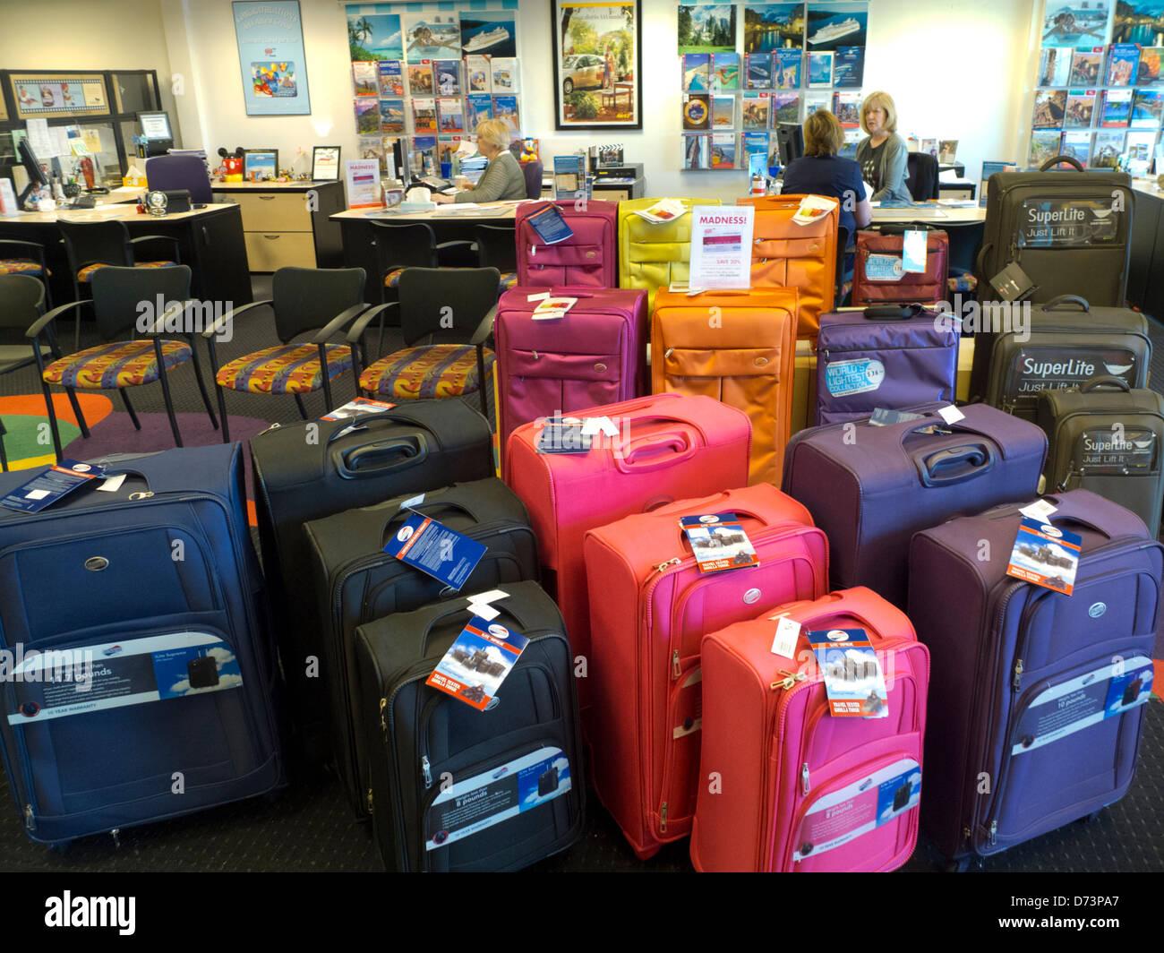 travel agency interior - Stock Image