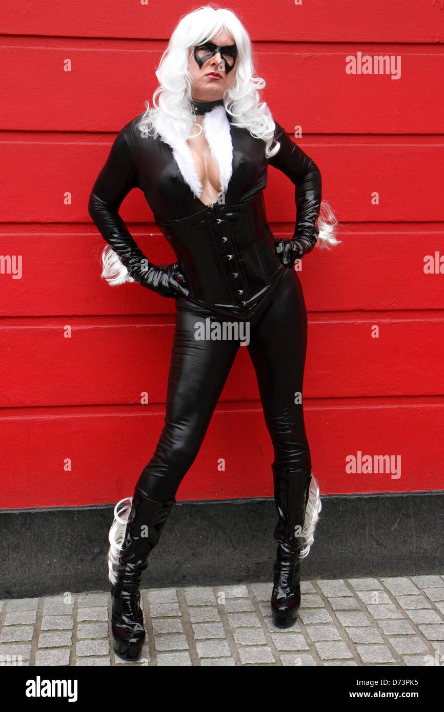 Participant dressed as Storm from X-Men series at the 12th Sci-Fi-London costume parade, Stratford, London, UK - Stock Image