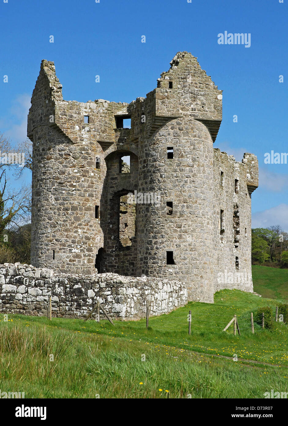 Monea Castle, 17thC, Century, County Fermanagh, Northern Ireland - Stock Image