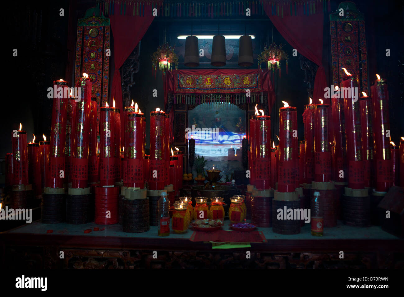 temple candles - Stock Image