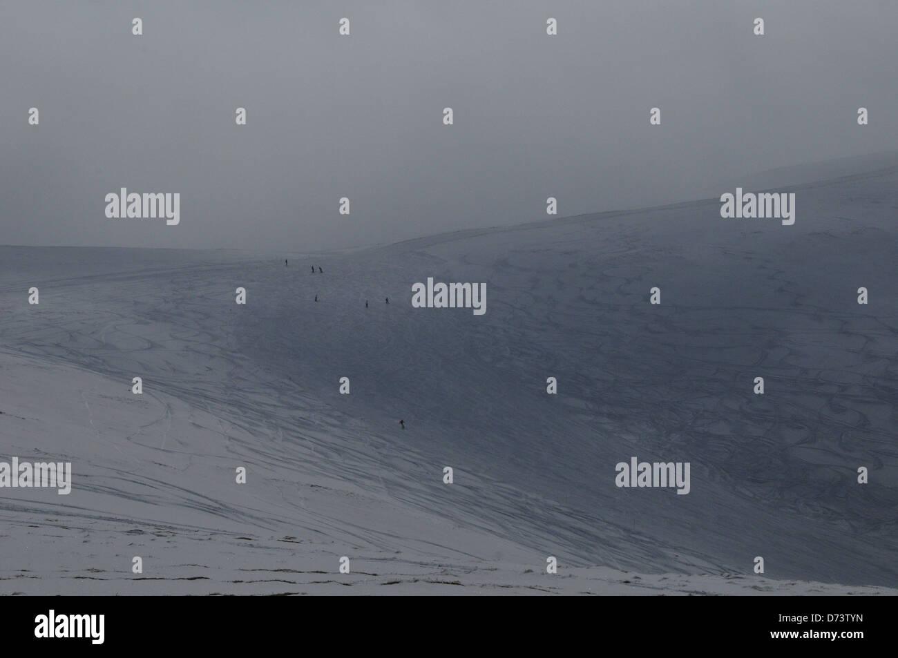 Off Piste Skiing, Glenshee - Stock Image