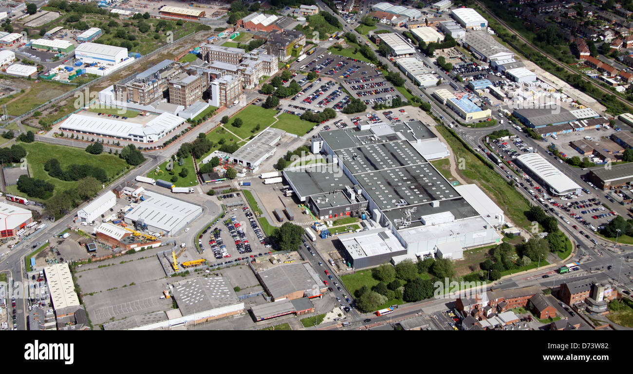 aerial view of the Reckitt Benckiser factory in Hull, East Yorkshire - Stock Image