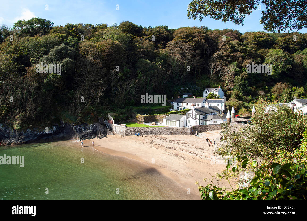 Ready Money Cove near Fowey in Cornwall, UK - Stock Image