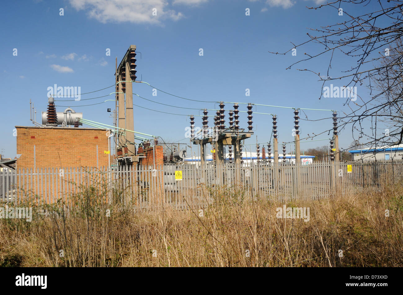 The 132Kv 'Leicester North' Electricity Sub-Station in Leicester, Leicestershire, England - Stock Image