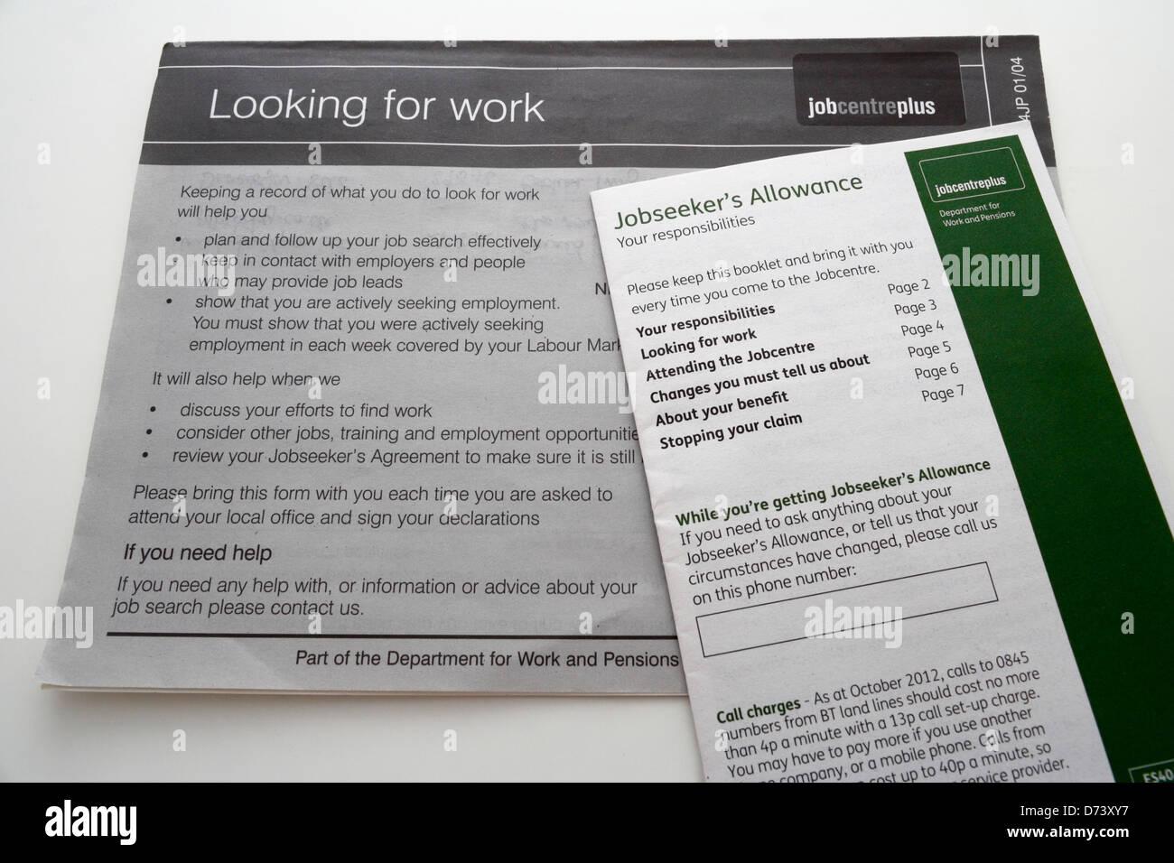 Jobseekers Allowance Stock Photos Jobseekers Allowance Stock