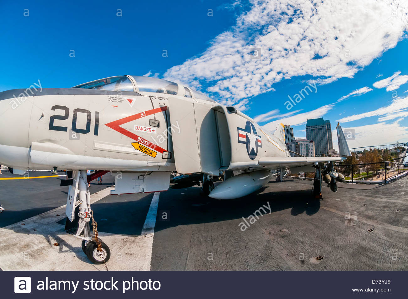 USS Midway Museum (aircraft carrier), Embarcadero, San Diego, California USA. - Stock Image