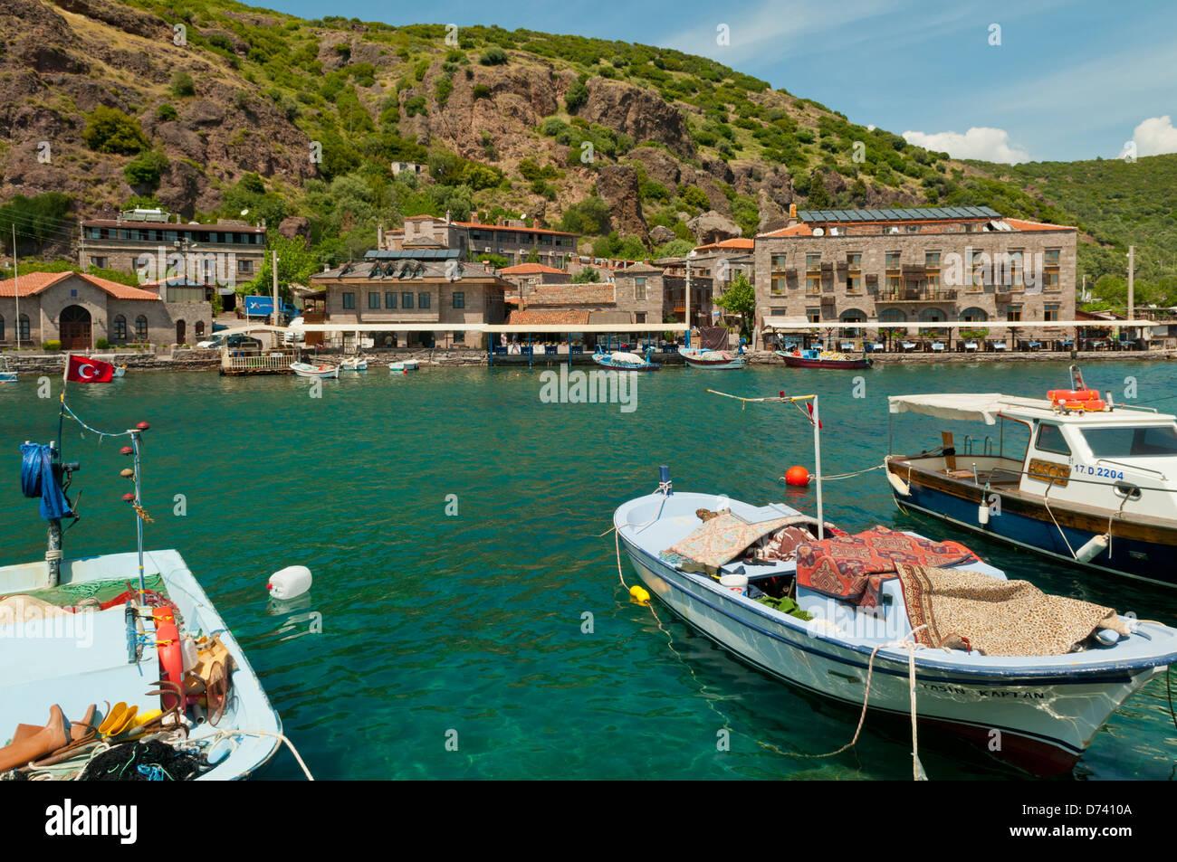 Harbour at Assos, Anatolia, Turkey - Stock Image