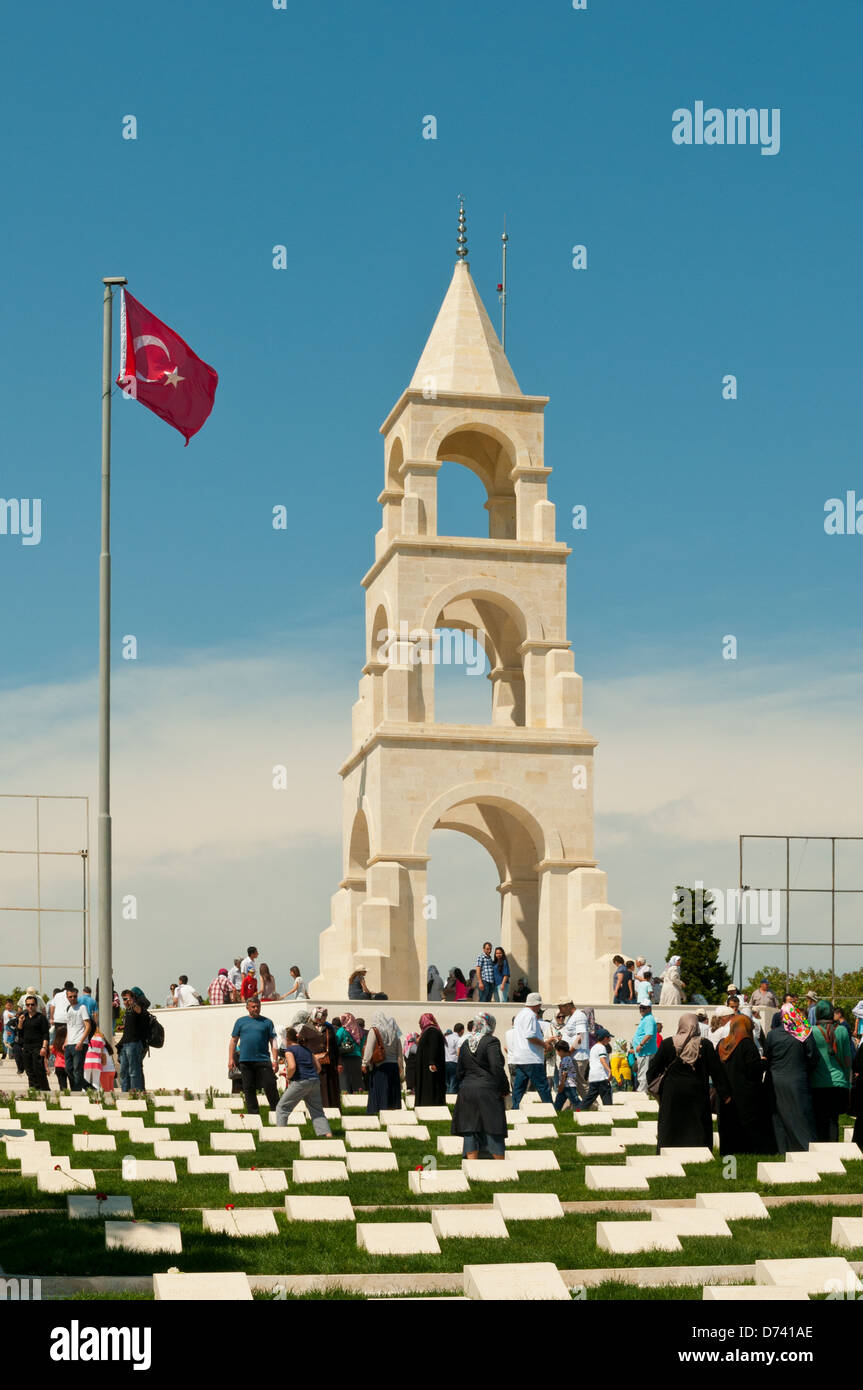 Turkish 57th Regiment Memorial, Gallipoli, Turkey - Stock Image